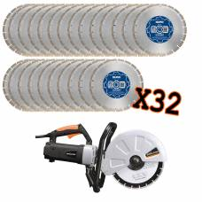 "12"" Premium Contractors Blades With Evolution Cut-Off Saw"